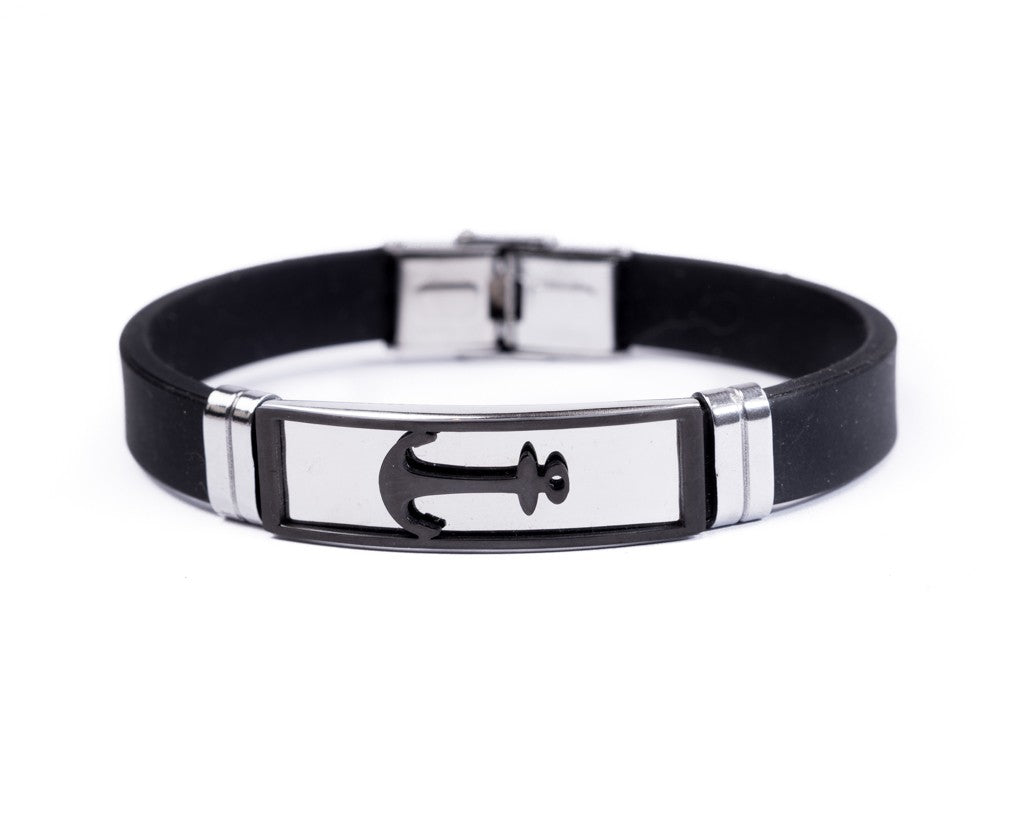 Leather Wristband Bracelet Anchor