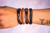 leather bracelet braided - neat brown - boom-ibiza