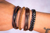 leather bracelet multistrand - brown - boom-ibiza
