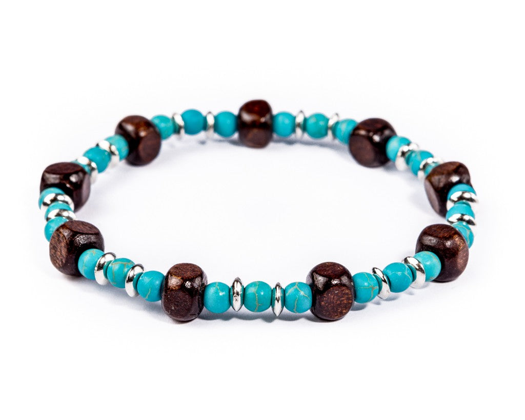 Turquoise Beads Stretch Bracelet