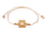 String Bracelet Golden Rectangle - White - boom-ibiza