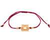 String Bracelet Golden Rectangle - Red - boom-ibiza