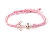 String Bracelet Golden Anchor - Pink - boom-ibiza
