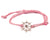 String Bracelet Golden Ship Wheel - Pink