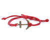 String Bracelet Brass Anchor - Red - boom-ibiza