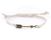 String Bracelet Brass Arrow - White - boom-ibiza