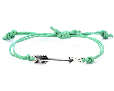 String Bracelet Metal Arrow - Green - boom-ibiza