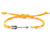 String Bracelet Metal Arrow - Yellow - boom-ibiza