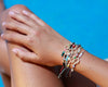 String Bracelet Golden Ring - Silver