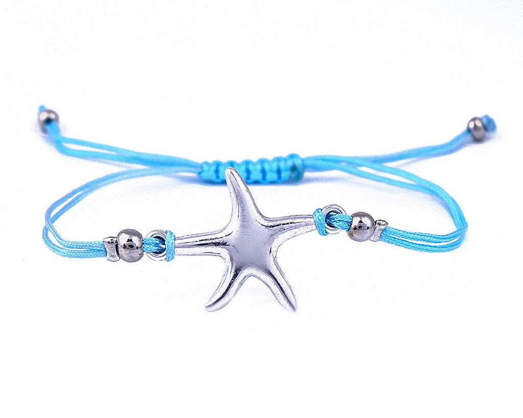 String Bracelet Sea Star - Light Blue - boom-ibiza