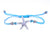 String Bracelet Sea Star - Light Blue