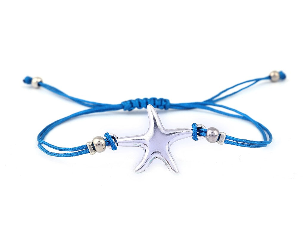 String Bracelet Sea Star - Navy Blue