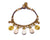 Anklet  -  Braided Brass Bells & White Agate Anklet