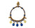 Anklet  -  Braided Brass Bells & Blue Anklet - boom-ibiza