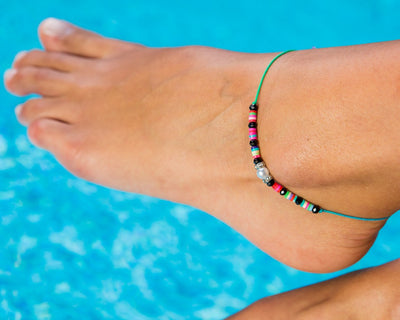 Anklet - Rainbow String Anklet - boom-ibiza