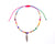 Anklet  - Rainbow String Cord Feather Charm - boom-ibiza