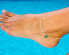 Anklet  -  Of-white String Cord Star Charm - boom-ibiza