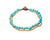 Anklet - Brass & Turquoise Chips Anklet - boom-ibiza