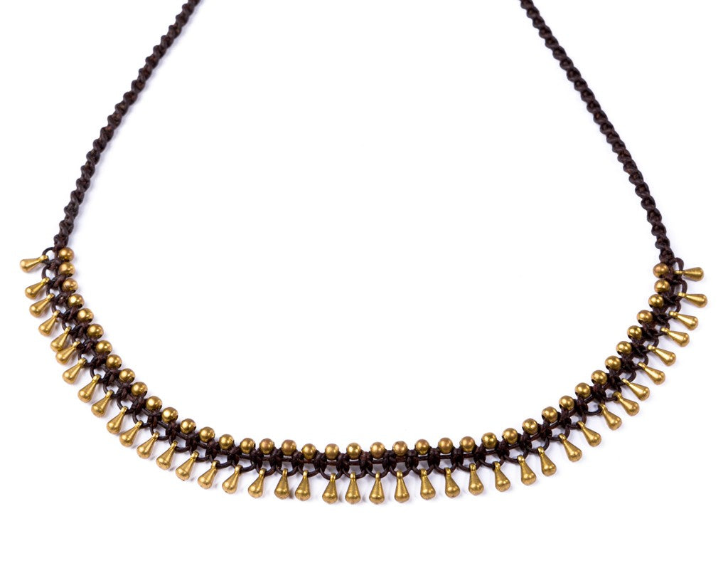Brass Pins Necklace