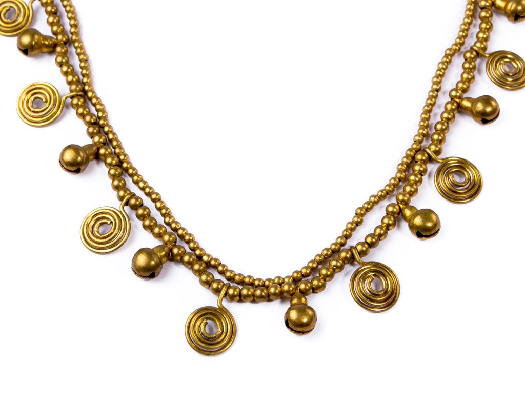 Golden beach Brass Necklace