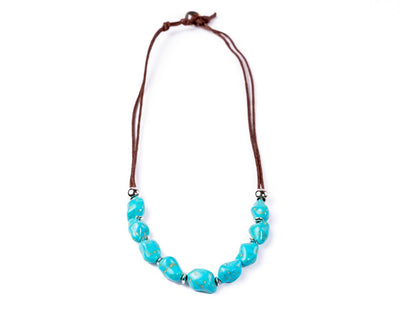 turquoise necklace rocky sea