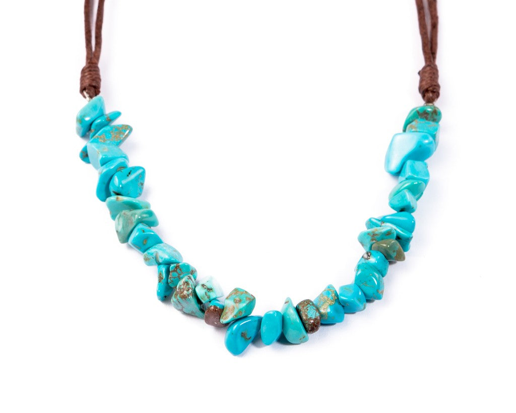 turquoise necklace chunky rocks