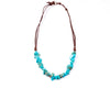 turquoise necklace chunky rocks - boom-ibiza