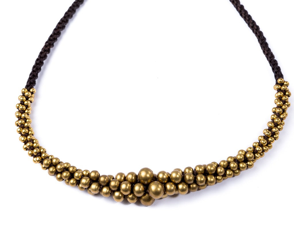 Bohemian Brass Balls Necklace