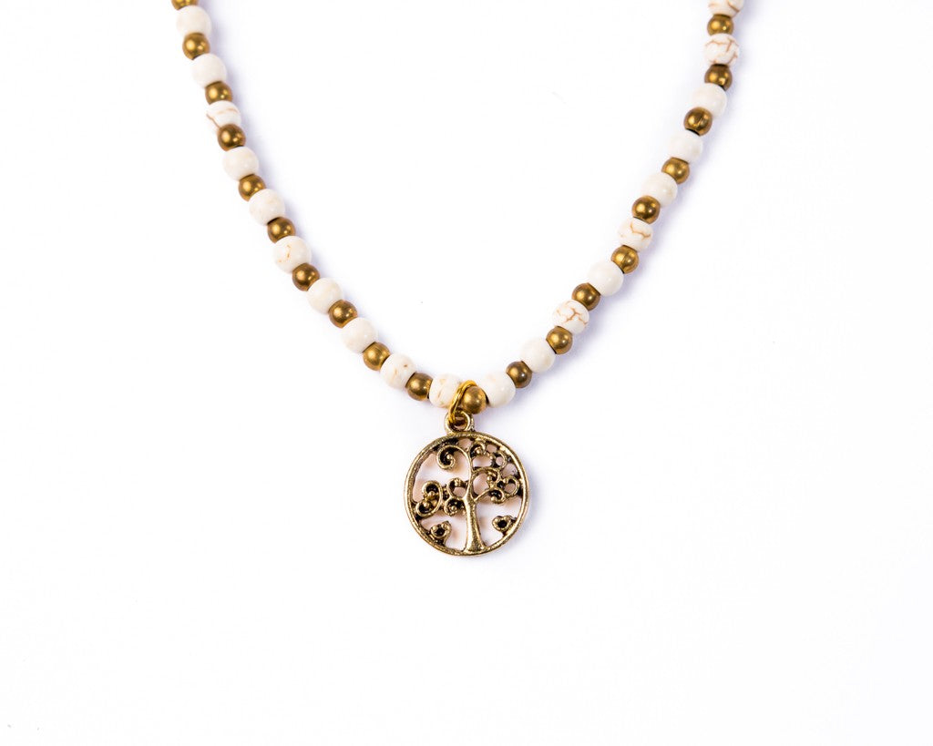 tree of life necklace white sand
