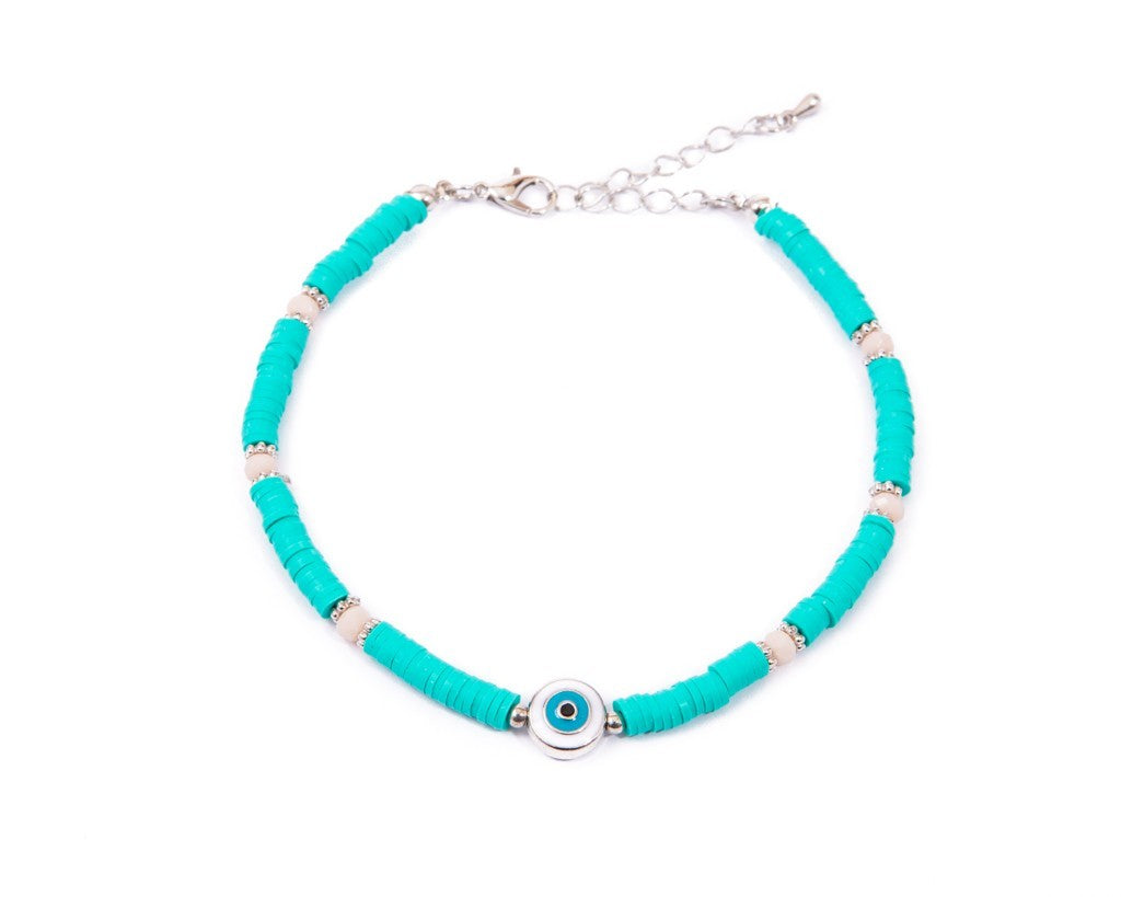 Anklet  - Turquoise Eye Charm