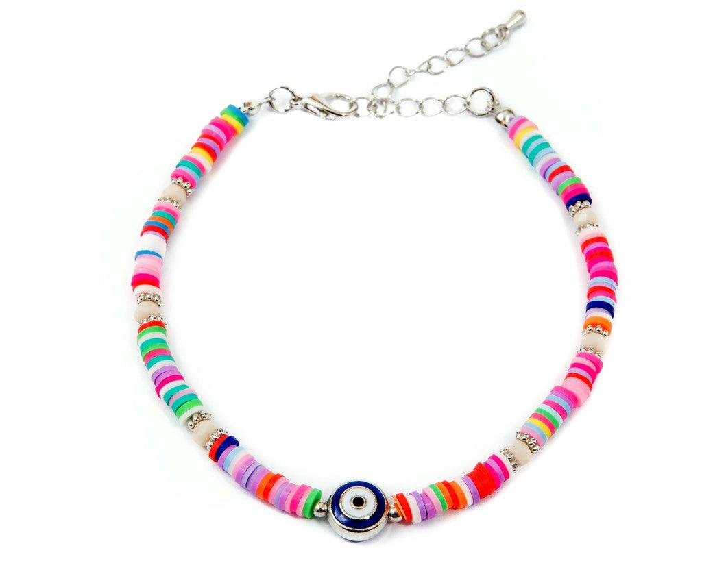 Anklet  - Rainbow Eye Charm