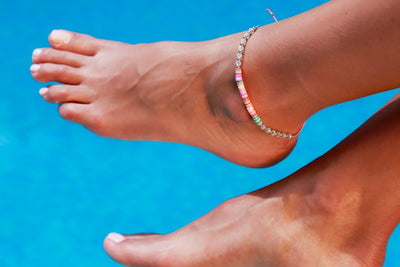 Anklet  -  String Cord Rainbow Colors