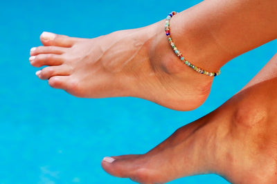 Anklet  - Briolette Shape Beads Mix - boom-ibiza