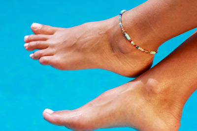 Anklet  - Colorful Briolette Shape Beads - boom-ibiza