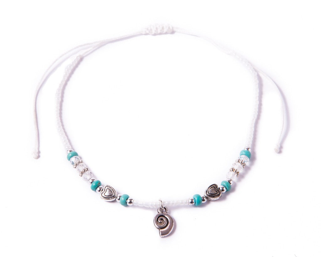 Anklet  -  String Cord Seashell Charm