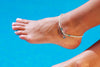 Anklet  - Double Strand White Sea-Star Charm - boom-ibiza