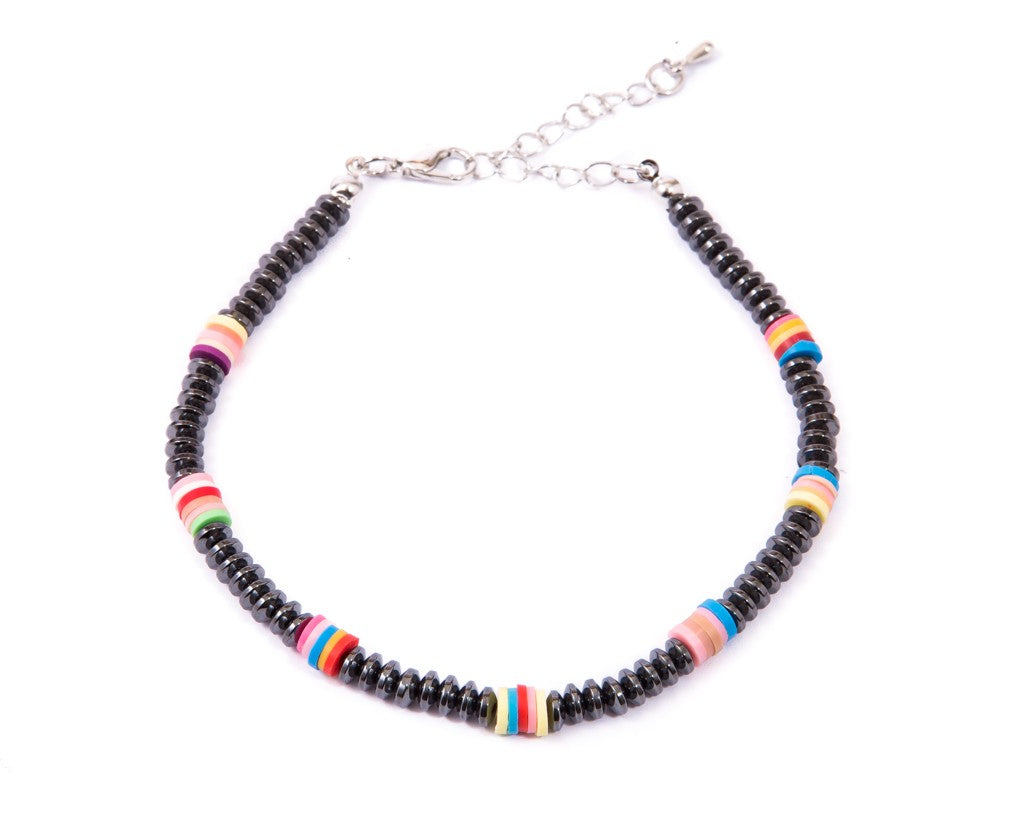 Anklet  - Disk Shape Glassy Beads - boom-ibiza