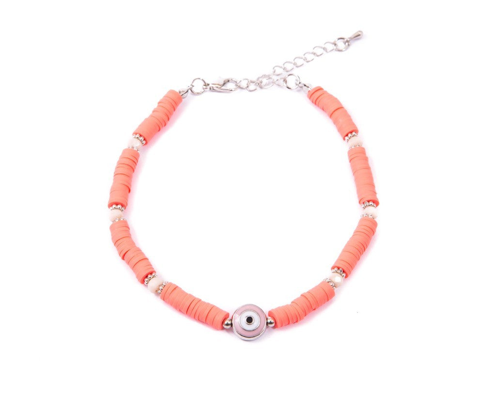 Anklet  - Pink Eye Charm