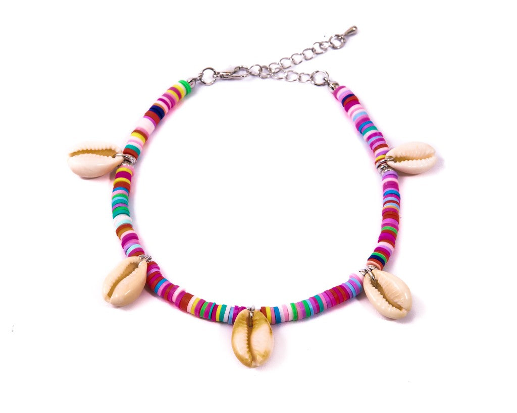 Anklet  - Rainbow Seashell