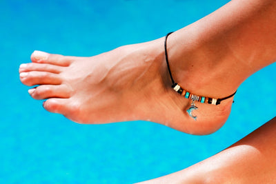Anklet  -  String Cord Dolphin Charm