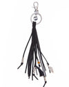 Keychain Leather Stripe - black - boom-ibiza