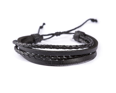 leather bracelet multistrand - four waves - boom-ibiza