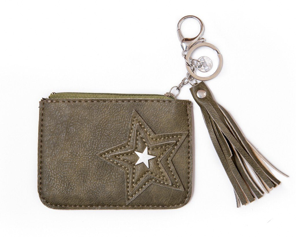leather wallet - grean - boom-ibiza