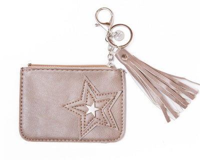 leather wallet - off white/pink - boom-ibiza
