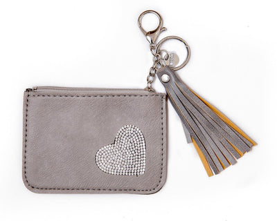 leather wallet - gray