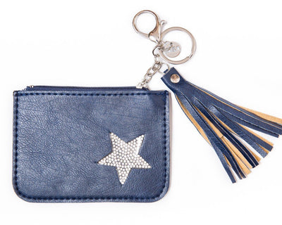 leather wallet - blue
