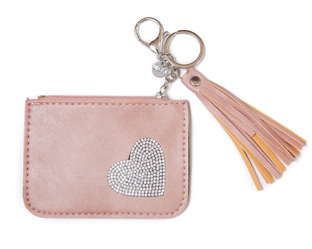leather wallet - pink - boom-ibiza