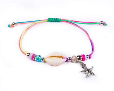 String Seashell Bracelet - Rainbow Sea-Star - boom-ibiza