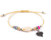String Seashell Bracelet - Cream Heart - boom-ibiza