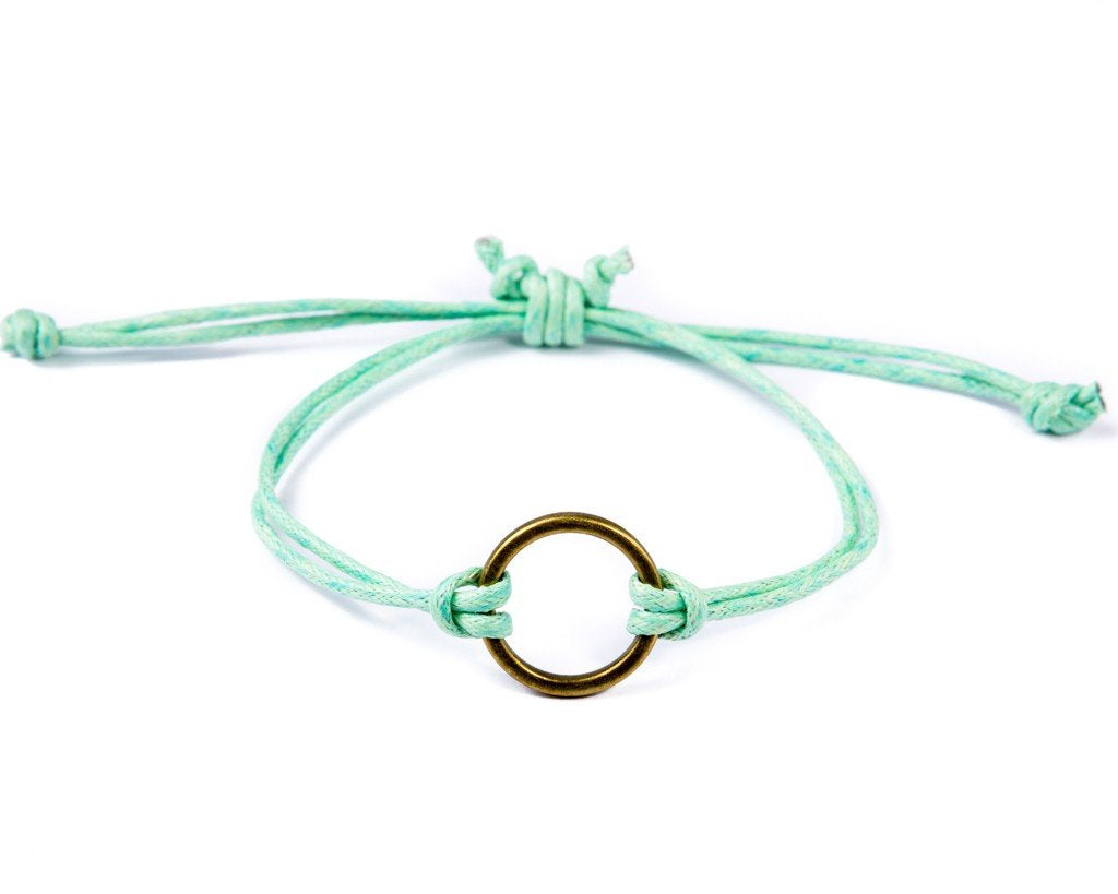 String Ring Bracelet - green